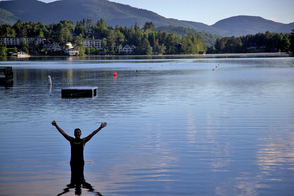 Triathlete Swimmer Lake Placid Training