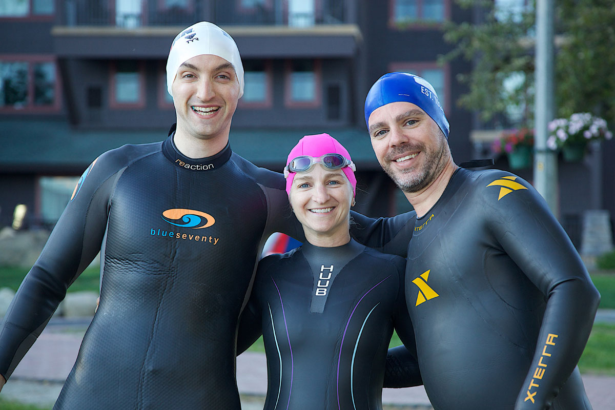 Triathlete Swimmers Lake Placid Training Trio